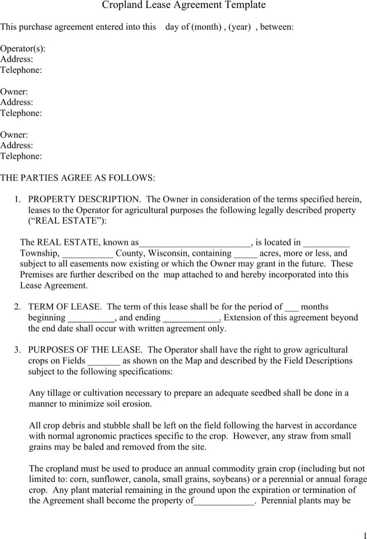 Lease Agreement Sample Lease Agreement Form Template Lease Owner - sample land lease agreement