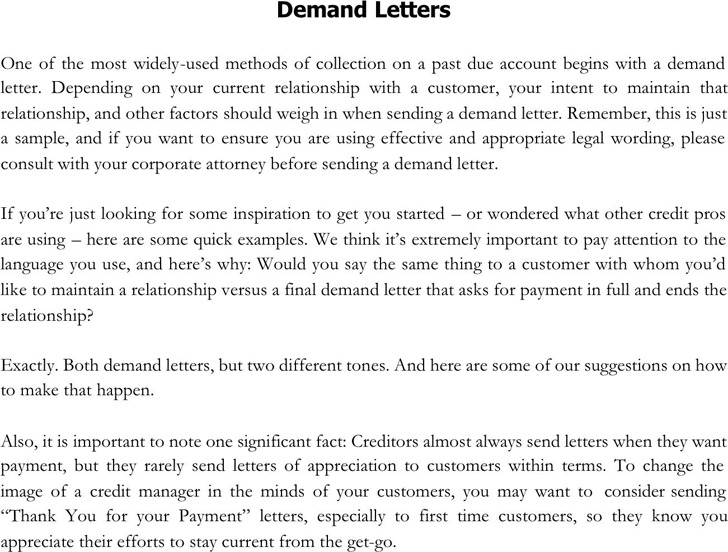 Demand Letter Sample Download Free  Premium Templates, Forms