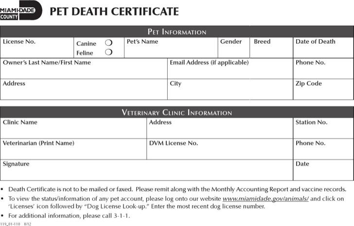 Pedigree Certificate Template Free Costumepartyrun