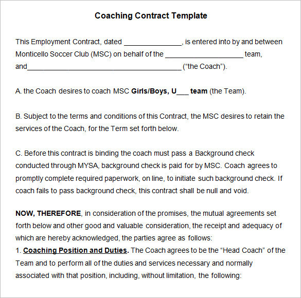 free employment contract template word 100 images 11