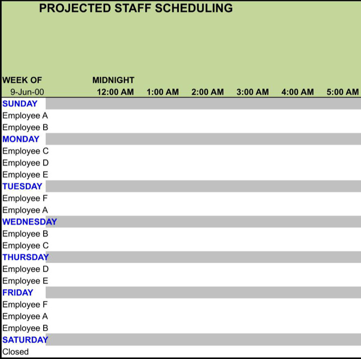 weekly work schedule template free download - shefftunes - monday to sunday schedule template