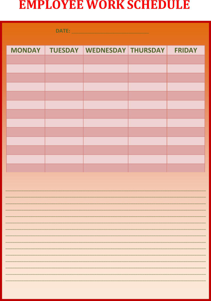 download work schedule template - shefftunes