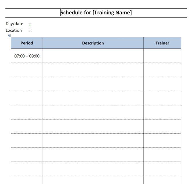 building maintenance schedule template