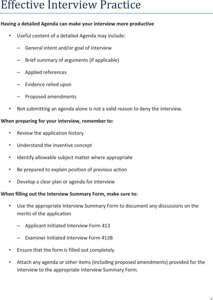 Interview Agenda Templates Download Free  Premium Templates - interview summary template