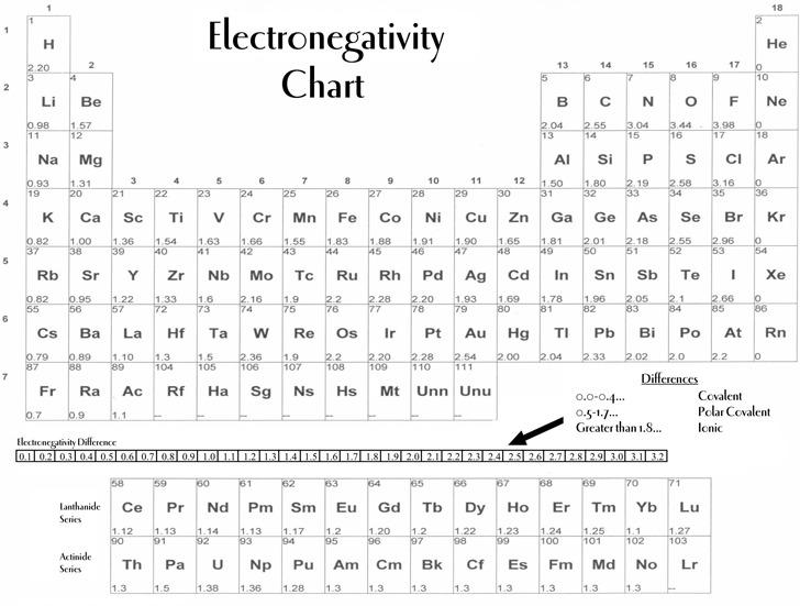 Electronegativity Chart Download Free \ Premium Templates, Forms - electronegativity chart template