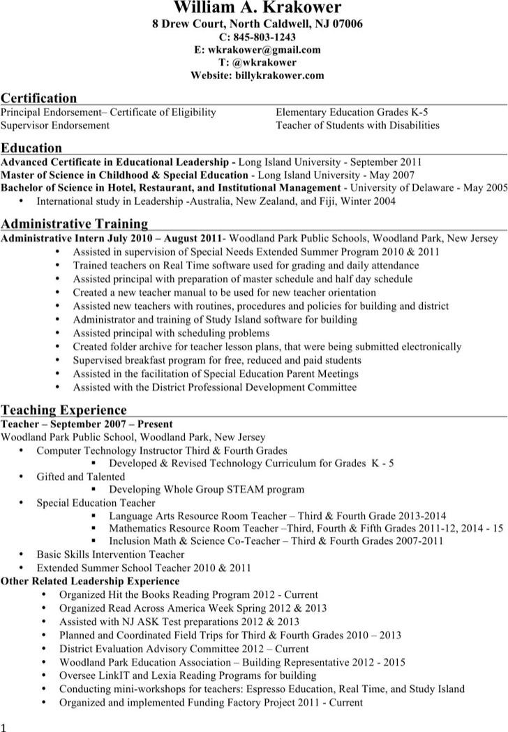 Principal Resume Cover Letter - principal resume