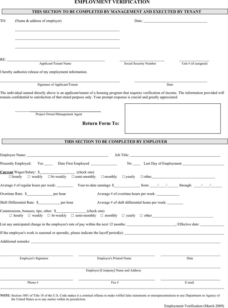 Employment Verification Form Download Free  Premium Templates - free employment verification form template