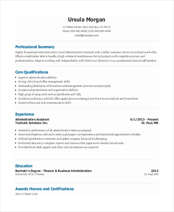 Office Assistant Skills Resume Skills For Office Assistant Resume Entry  Level Administrative Assistant Cover Letter  Administrative Assistant Skills Resume