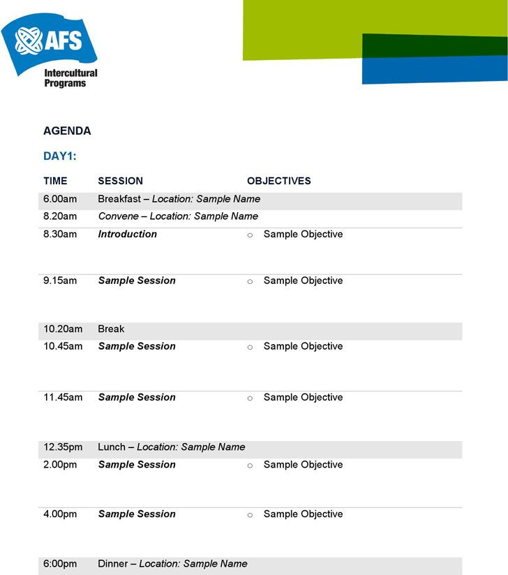 Sample Conference Agenda It Free Agenda Template Word Conference - event agenda sample