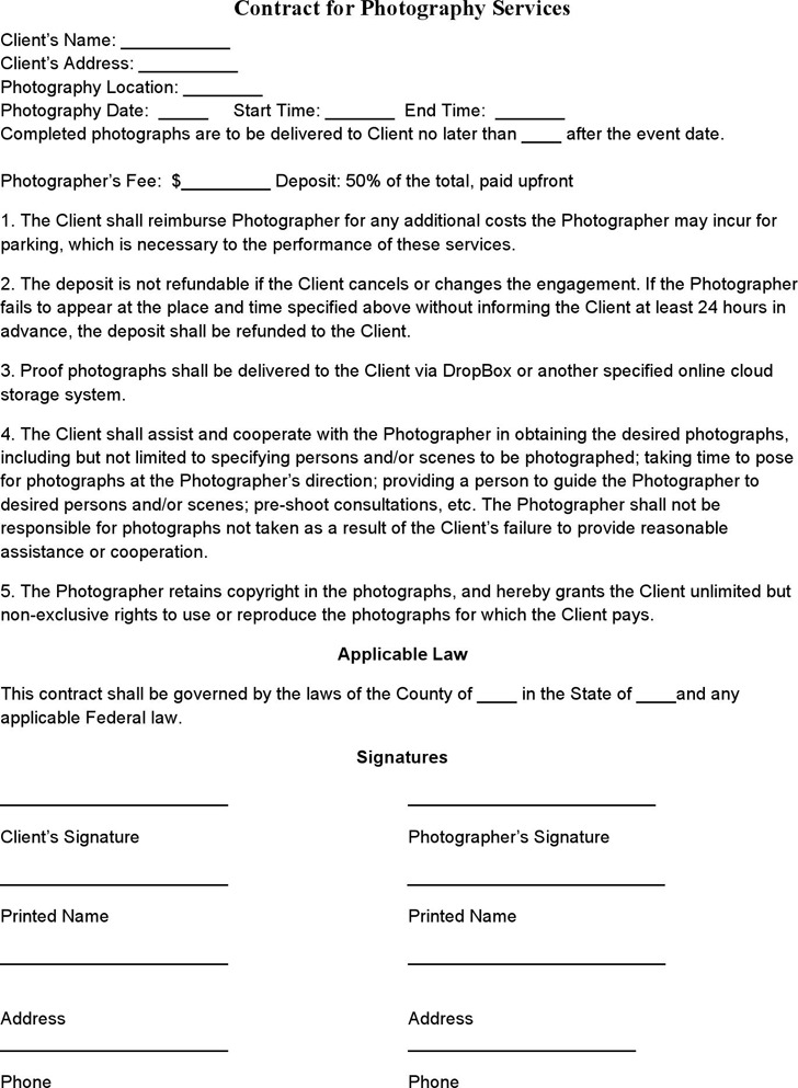 Music Contract Templates Non-Exclusive Lease Contract The - wedding contract template