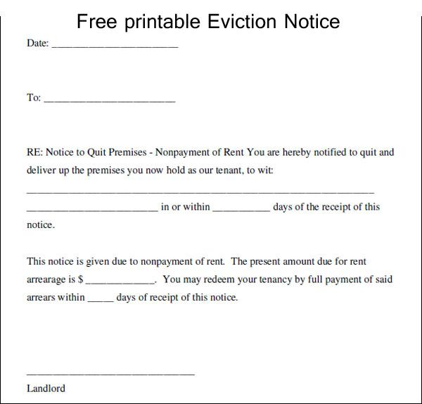 landlord eviction notice letter hitecauto - eviction notice template