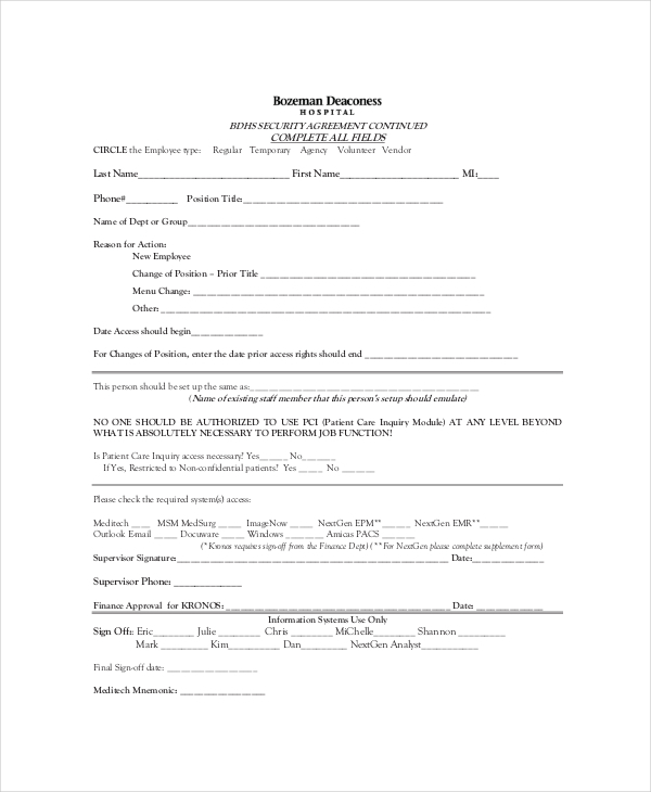 Confidentiality Agreements Form Confidentiality Agreement Template