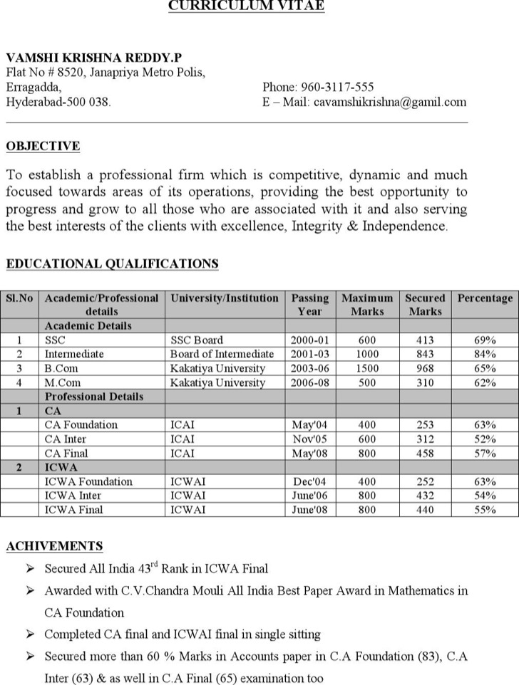 cover letter for chartered accountant resume - Military.bralicious.co