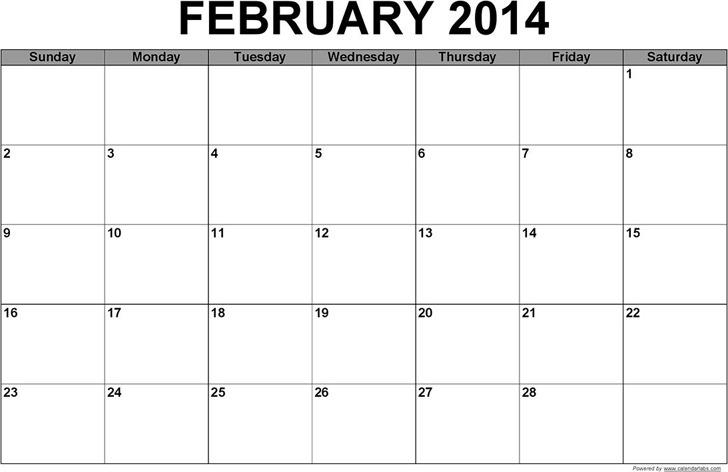 Calendar 2014 Template Pdf Free Download 2016 Calendar Pdf 16 Free Printable Calendar Templates February 2014 Calendar Download Free And Premium Templates