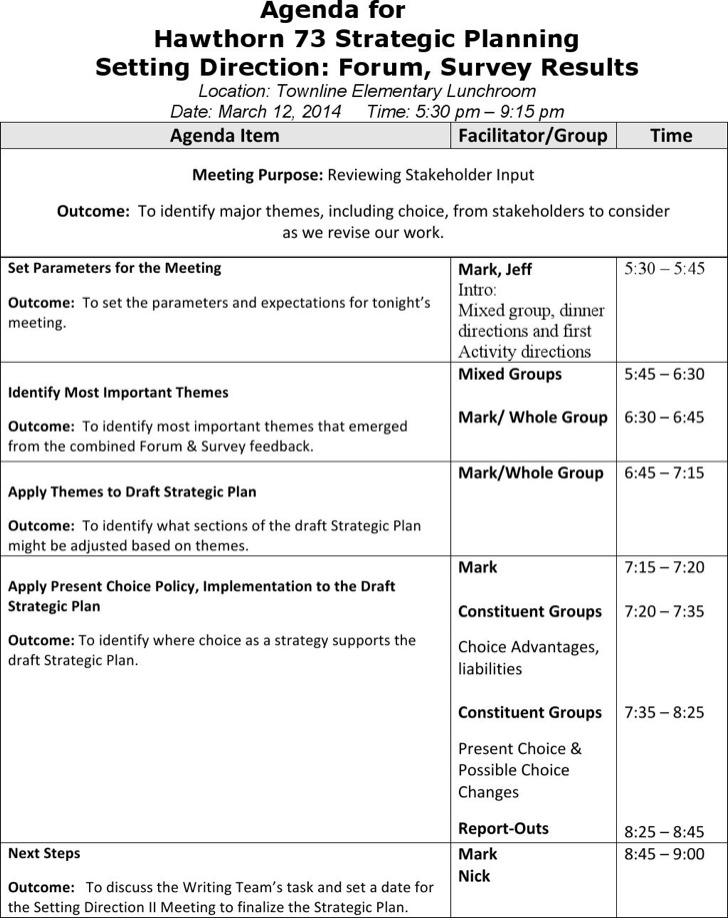 Weekly Meeting Agenda Template Download Free  Premium Templates