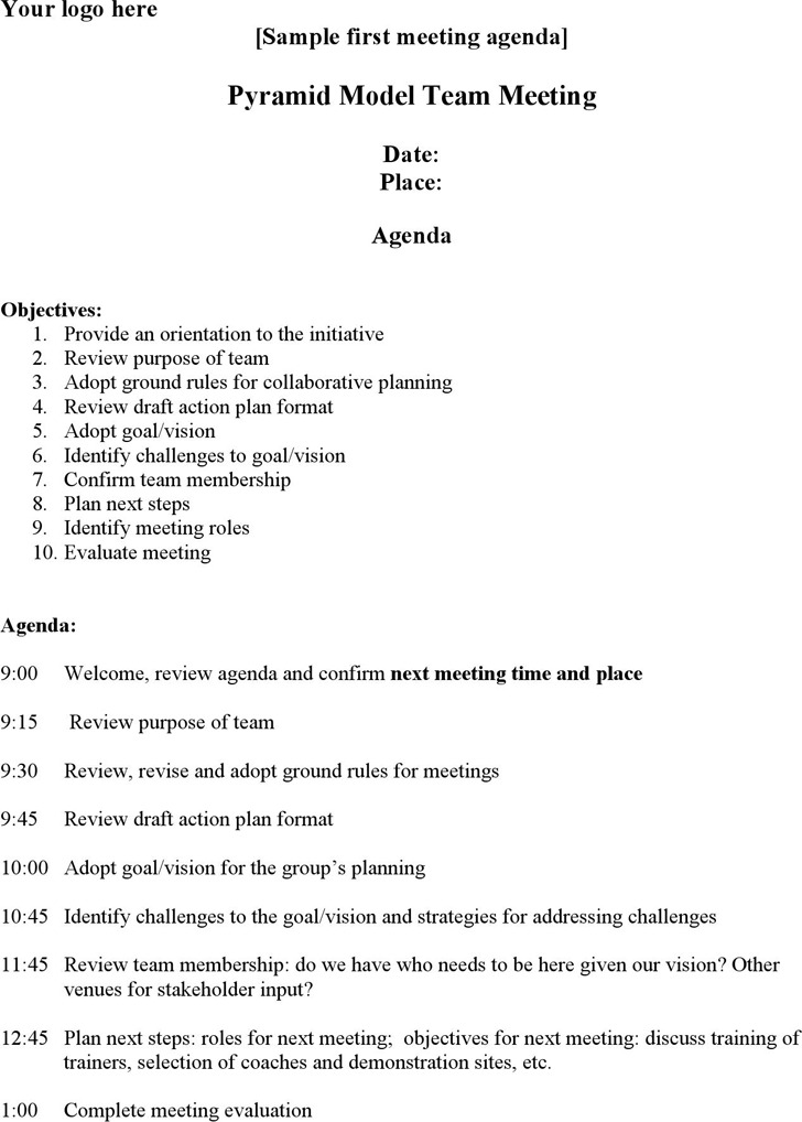 Sample Staff Meeting Agenda - sample meeting agenda 2