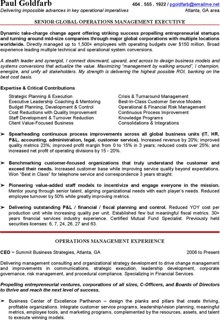 Ceo Resume Template Ceo Resume Template Pdf Free Download Chief