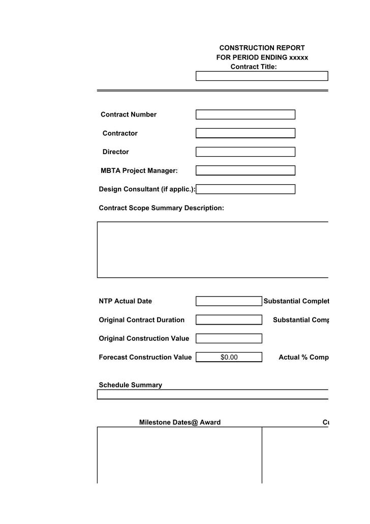 Construction Reporting Templates Construction Report Templates 9