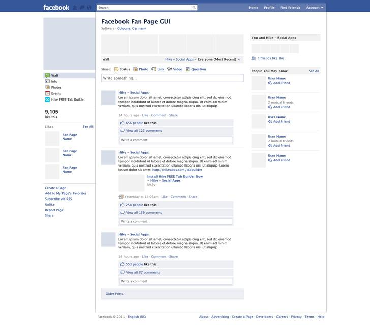 free facebook template for students - Apmayssconstruction
