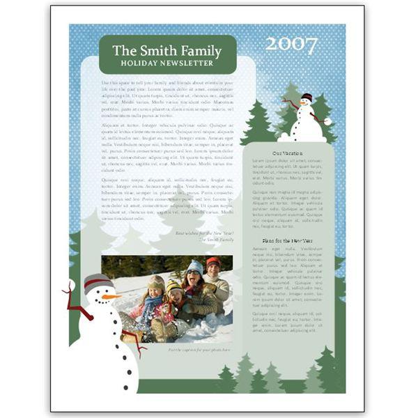 Christmas Newsletter Templates Download Free Premium Email