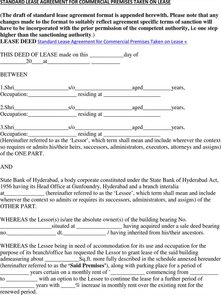 simple commercial lease agreement - fototango - lease agreement format
