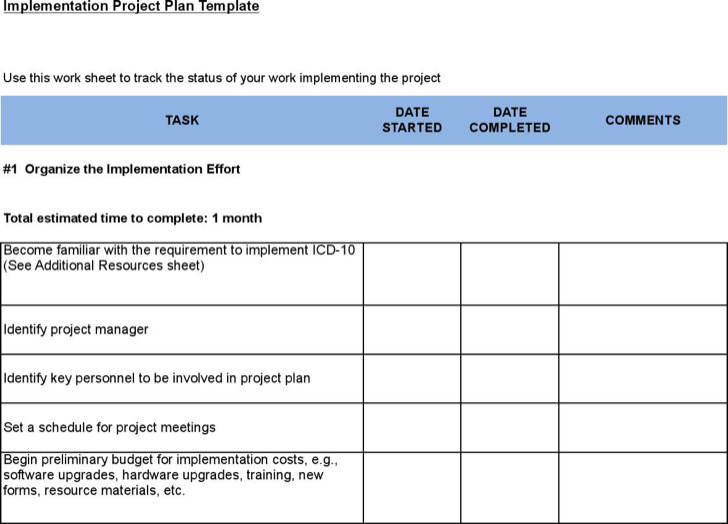 Sample Project Plan Get Project Plan Template Excel Exceltemple - implementation plan template