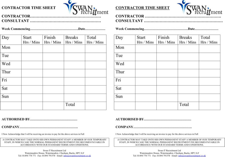 Sample Time Sheet Simple Timesheet Template Free In Pdf Simple