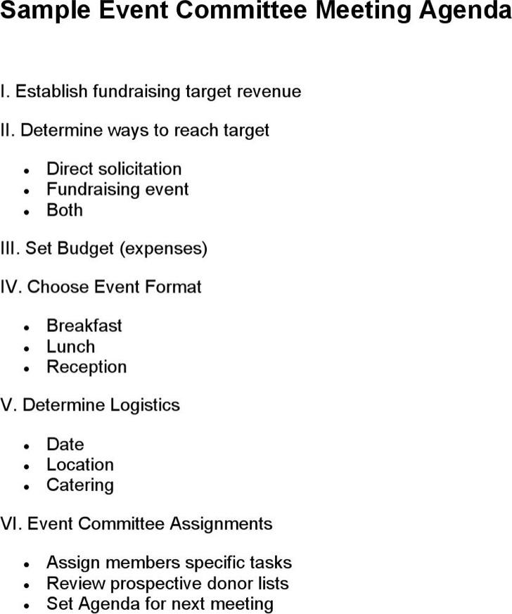 Meeting Agenda Format Meeting Agenda Templates Excel Pdf Formats