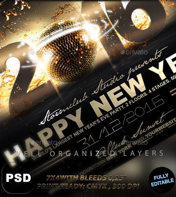 New Year Flyer Templates Download Free  Premium Templates, Forms