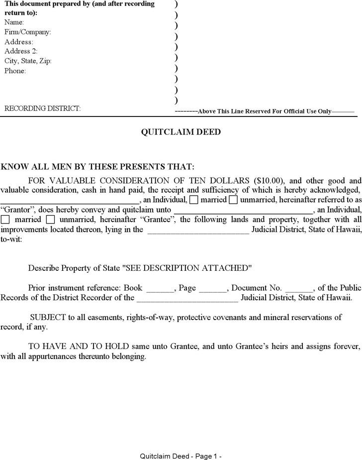 warranty deed form template – Warranty Deed Form Template