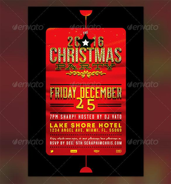 Christmas Party Ticket Template Free - Fiveoutsiders