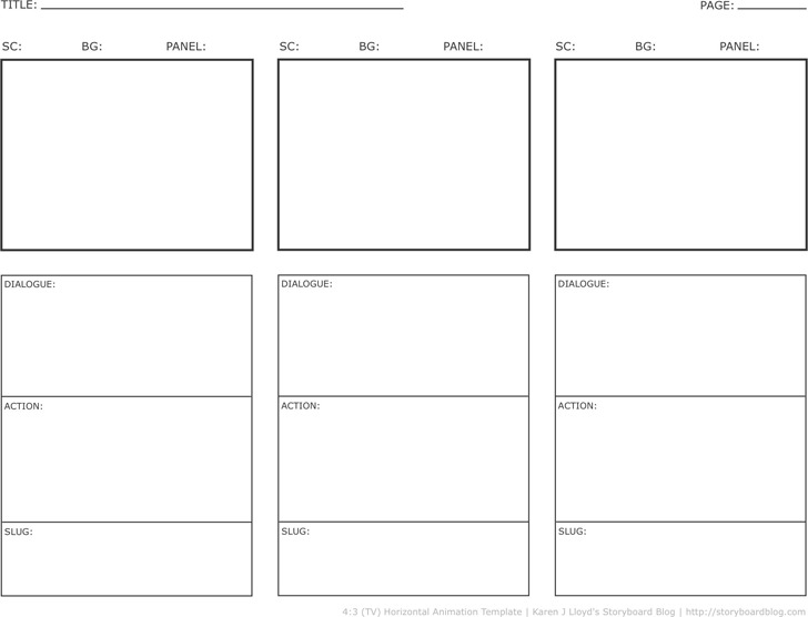 Storyboard Template Download Free  Premium Templates, Forms