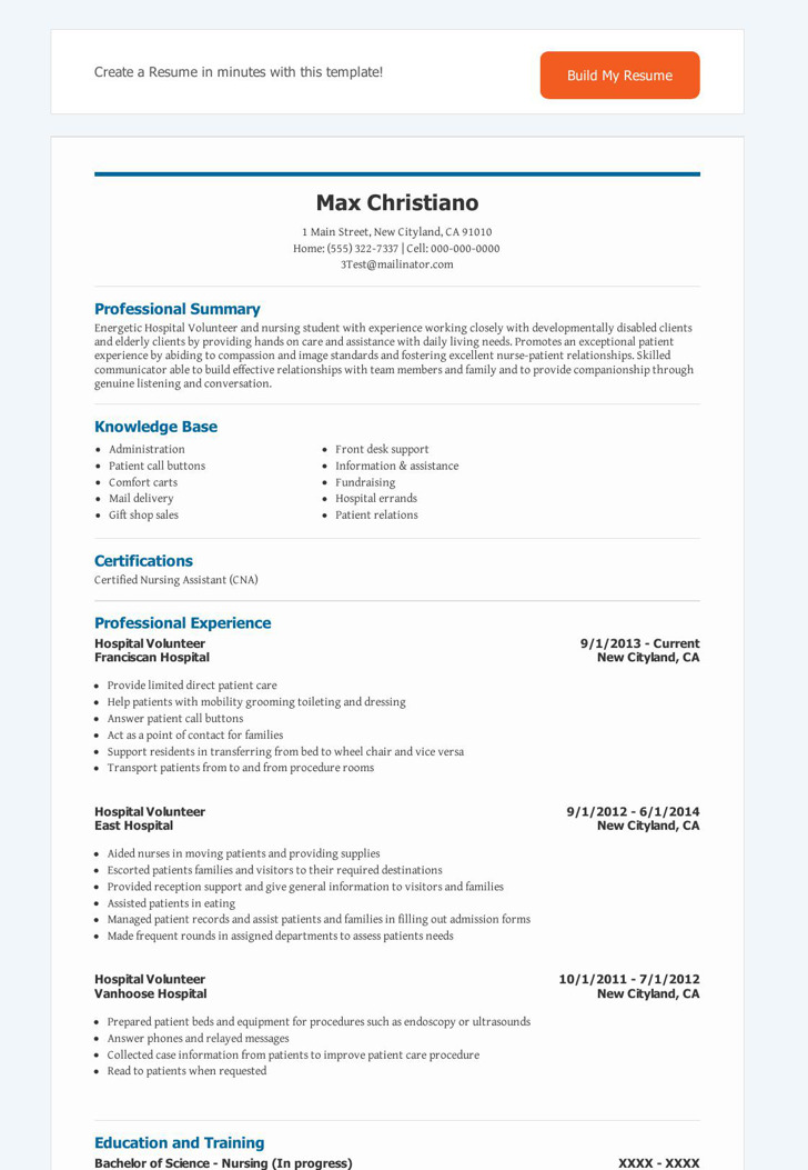Best Of Volunteer Resume Template Volunteer Resume Resume Ideas