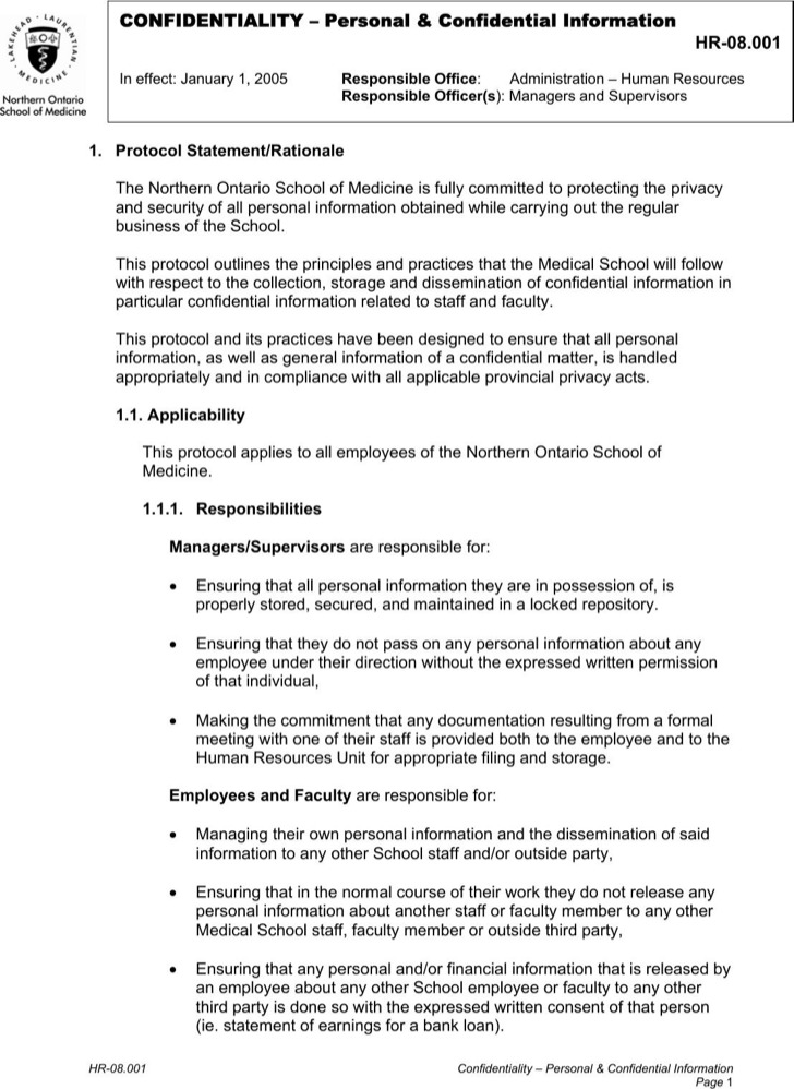 Hr Agreement 9 Settlement Agreements - Hr And Employment Law - sample employee confidentiality agreement