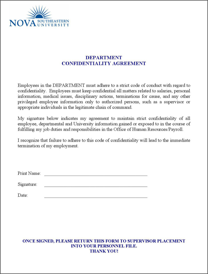 Employee Confidentiality Agreements kicksneakers
