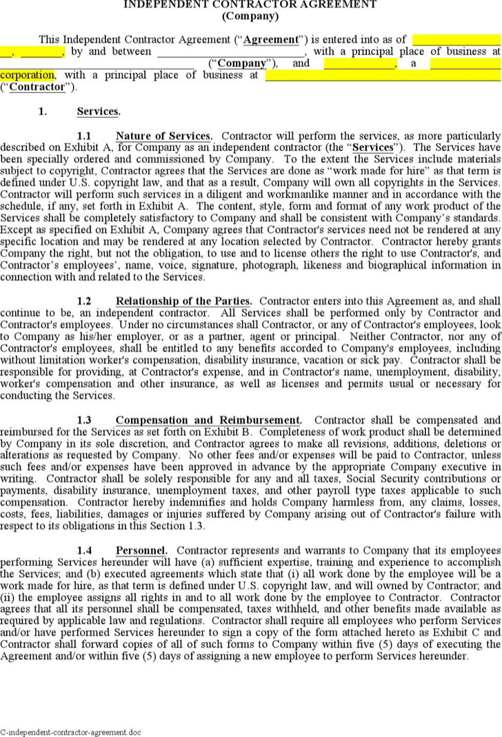 Doc#696900 Contractor Confidentiality Agreement - contractor confidentiality agreement