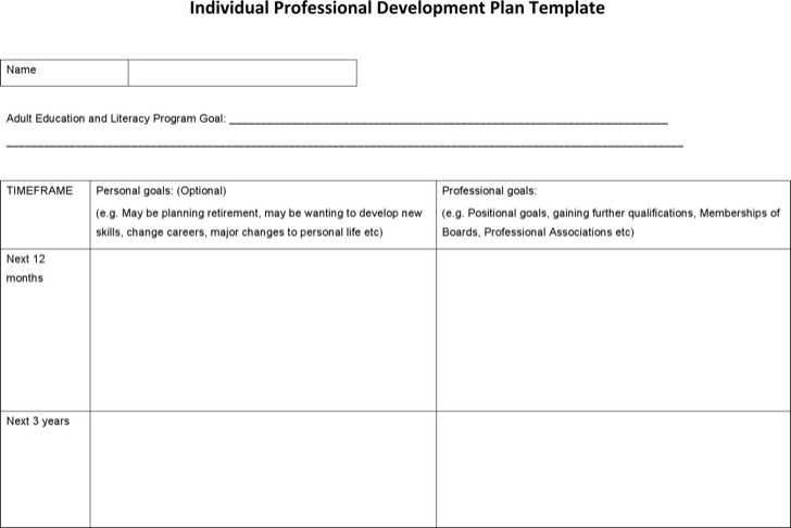 Sample Professional Development Plan Templates Download Free - development plan templates