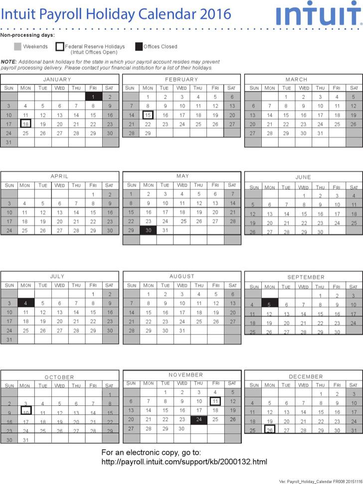 10+ Payroll Calendar Templates Free Download