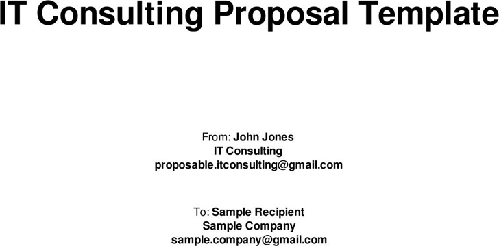 Consulting Proposal Template Download Free  Premium Templates
