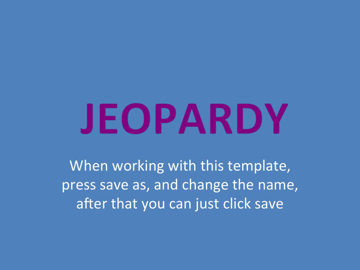 Blank Jeopardy Template Download Free  Premium Templates, Forms