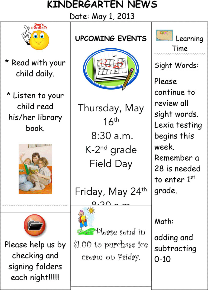 Kindergarten Newsletter Template Download Free  Premium Templates - kindergarten newsletter template