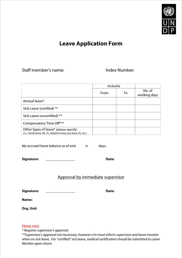 employee leave application form – Leave Request Form