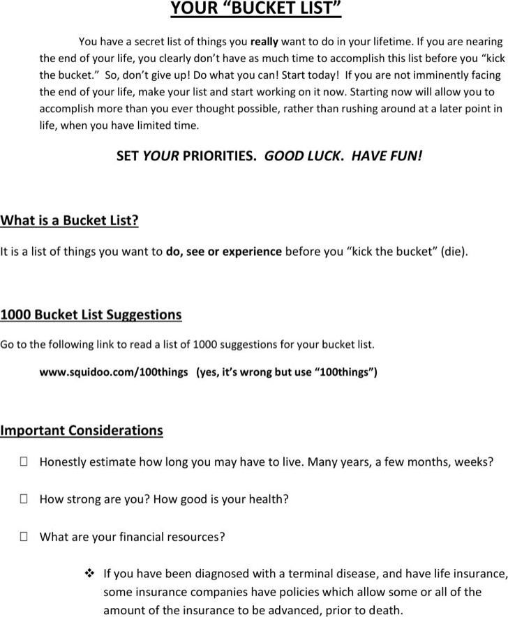 bucket list template microsoft word - Jolivibramusic