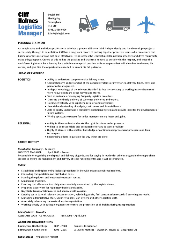 Logistics analyst sample resume OVERALL-FAVOURITEGA - distribution analyst sample resume