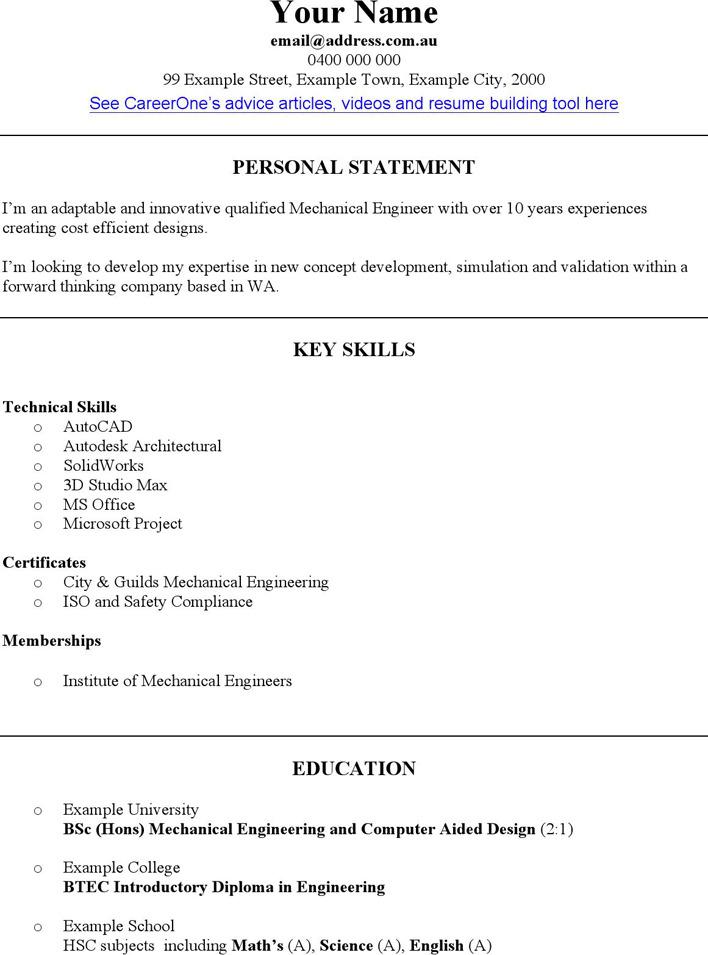 Engineering CV Template Download Free  Premium Templates, Forms - engineering cv template