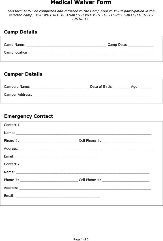 Medical Waiver Form Download Free  Premium Templates, Forms - sample medical waiver form