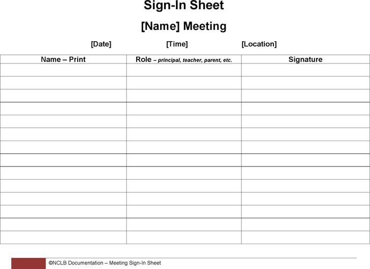meeting sign in sheet - Template - meeting sign in sheet templates