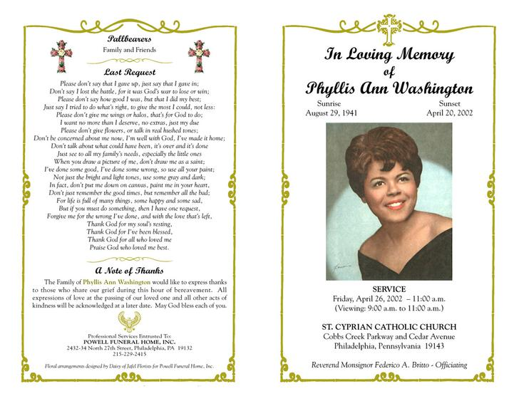 Funeral Program Templates Download Free  Premium Templates, Forms - free funeral program template for microsoft word