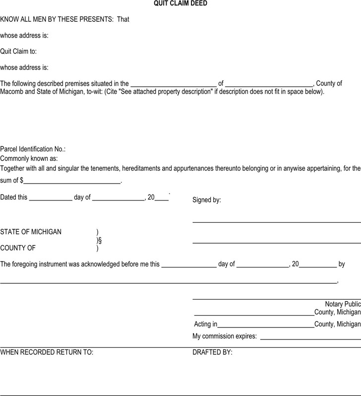 Sample Quitclaim Deed Form Grant Deed Form Printable Contract For - grant deed form