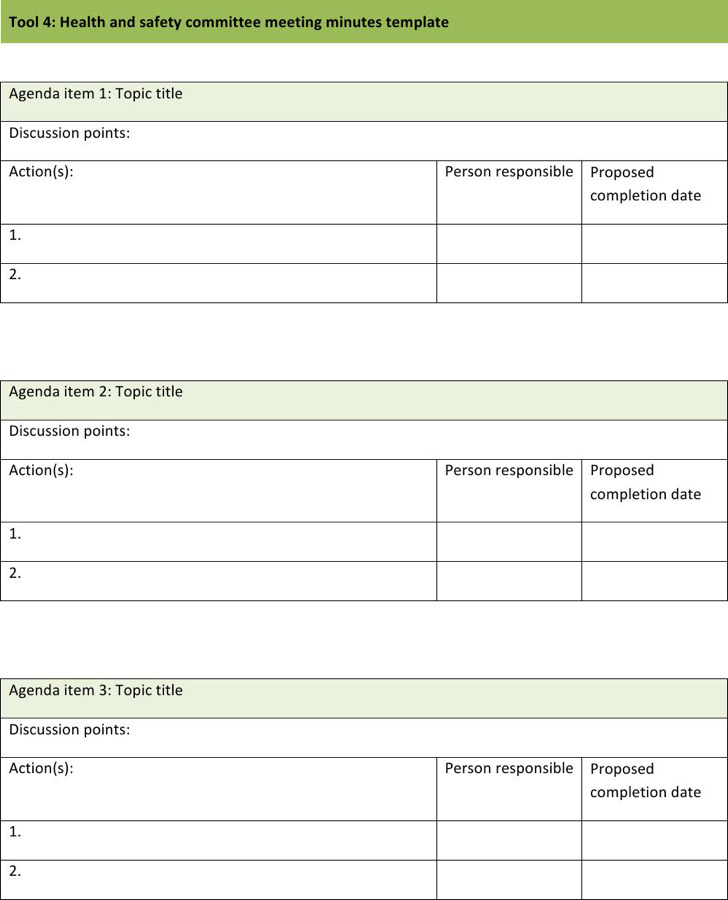 5+ 5 Safety Meeting Minutes Templates Free Download
